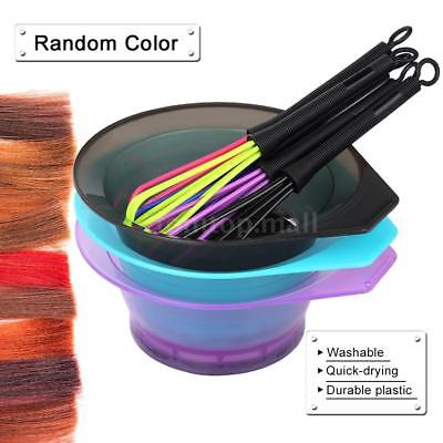 Storing Mixing & Stirring Hair Coloring Cream Hair Dyeing Tool Bowl+ Whisk G9C1