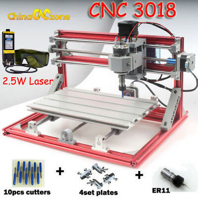 Cnc 3018 Diy Rouyer 2.5w Laser Engraving Carving Pcb Milling Cutting Machine