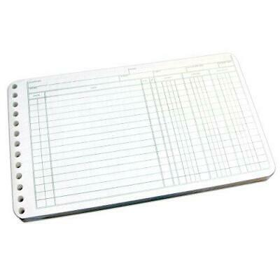 Wilson Jones Ring Ledger Sheets, 5 x 8.5 Inches, 24 Pound Paper, White, -