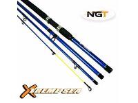 NGT Xtreme Sea 9ft 4pc Fibreglass Travel Fishing Rod new