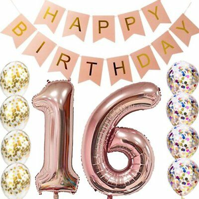 sweet 16th Birthday decorations Party supplies - Sweet 16 Birthday Balloons