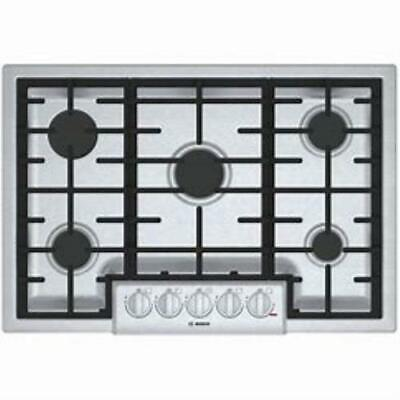 """Bosch 800 Series 30"""" Stainless 5 LED Sealed Burner Gas Cooktop NGM8056UC"""