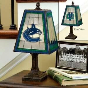 Vancouver Canucks Art Glass Table Lamp (Display Model)