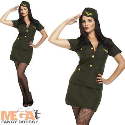 Army Lady Fancy Dress UK 10-12 Military Uniform Womens Adults Occupation Costume (Occupation Fancy Dress)