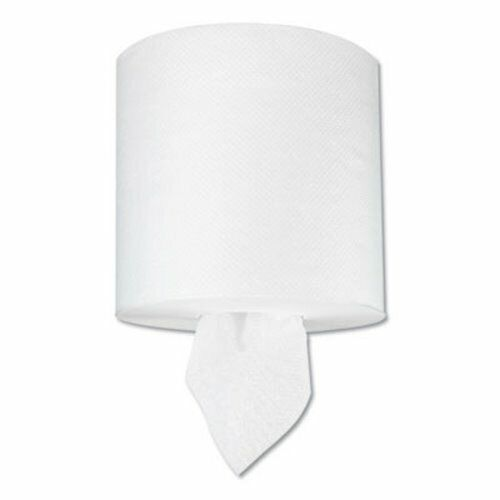 Boardwalk TAD Center-Pull Hand Towels, 1-Ply, 400 ft, White, 6 Rolls (BWK6404)