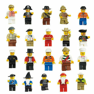 Lot of 10 Random New Figures Men People Minifigs,Assembled,US SELLER!