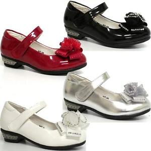 GIRLS-PARTY-SHOES-KIDS-INFANTS-WEDDING-DRESS-BRIDESMAID-DANCE-SHOES-SIZE-7-3