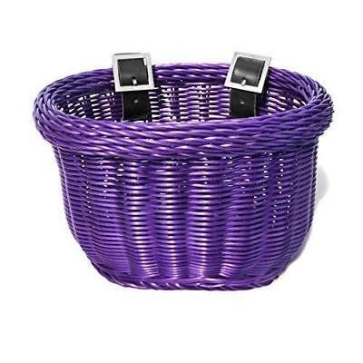 ColorBasket Oval Mesh Bottom Lift-Off Front Bike Basket Pink 14.5 x 10.25 x 9.5