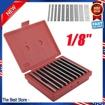 """SHARS 1/8"""" STEEL PARALLEL SET 10 PAIR PARALLELS .0002"""" HARDENED NEW"""