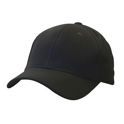 c3b32b22458 Black Plain Blank Adjustable Golf Tennis Baseball Solid Ball Cap Hat Caps  Hats