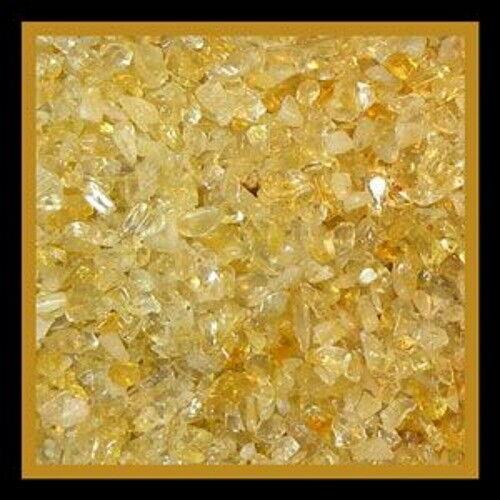 Gemstone Embellishment Citrine Small - Medium UNDRILLED Chips 50g (1.75 oz)