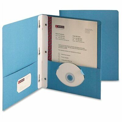 Smead 88052 Blue Two-pocket Heavyweight Folders With Tang Strip Style Fastener -