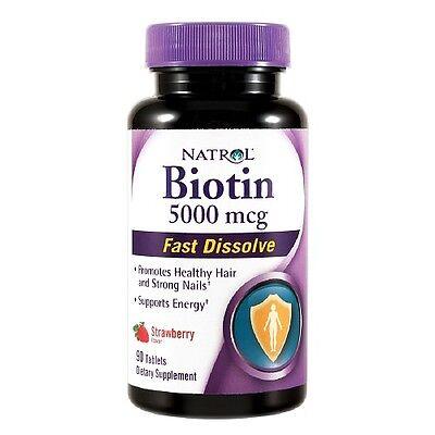 Natrol Biotin 5000 mcg Fast Dissolve Tablets, Strawberry 90 ea