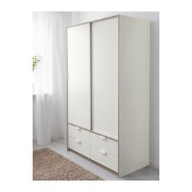 Trysil WARDROBE with sliding doors and 4 drawers * 1 year old *