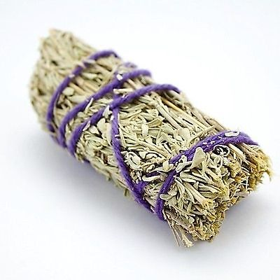 "Sage Smudge Stick 4"" - by SAGE SPIRIT Cleansing & Protection Top Quality"
