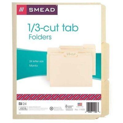 Smead 11928 Manila File Folders - Letter - 8.50 X 11 - 13 Tab Cut Smd11928
