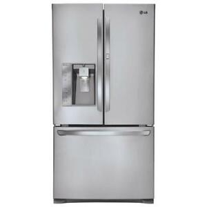 "LG LFXS30766S 36"" French Door Refrigerator with 30 Cu. Ft. Capacity in Stainless Steel (Factory refurbished)"