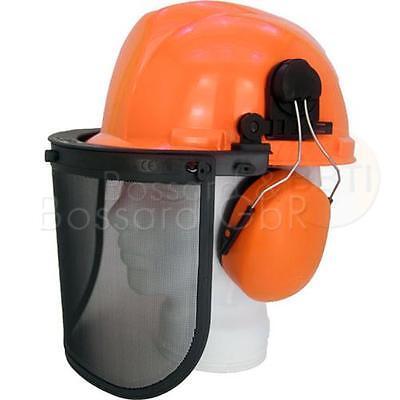Waldarbeiterhelm Forsthelm Helmset Schutz Helm orange (Orange Schutzhelm)