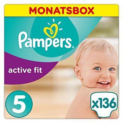 Pampers Active Fit Windeln,Gr.5, Junior 11-23kg, Monatsbox, 1er Pack (1 x 1