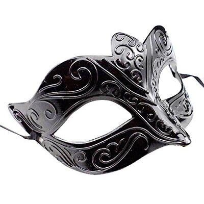 Venezianische Maske #2 Mitternacht Schwarz Herren Damen Maskerade Kostüm Shades