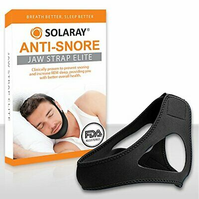 Anti-Snoring Chin Strap Sleep Solution Stop Snoring Device Men & Women - Solaray