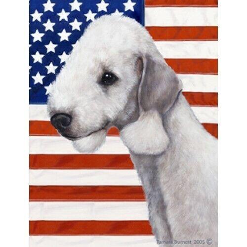 Patriotic (D2) House Flag - Bedlington Terrier 32132