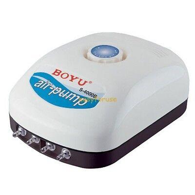 300 Aquarium Air Pump - Four-Outlet Air Flow Adjustbale Aquarium Air Pump 9W 0.012 MPa Up to 300 Gallon