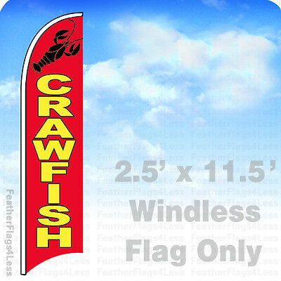 Crawfish Windless Swooper Flag Feather Banner Sign 2.5x11.5 - Rb