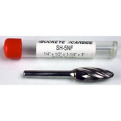 Carbide Burr (SH-5NF) Flame Shape - Aluminum Cut - 1/4 x 1/2 x 1 1/4 x 3 ()