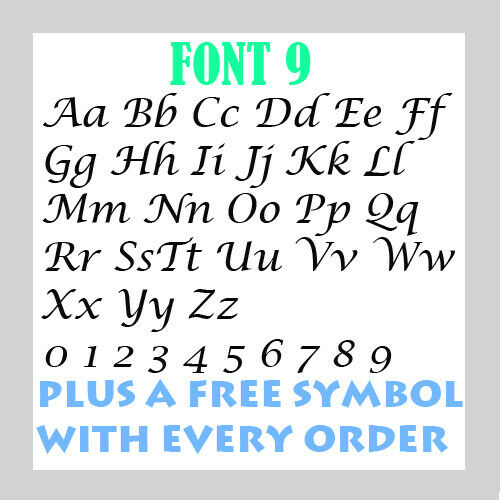 Personalised  Name Word Letter Vinyl Custom Sticker Car Wall art FREE symbol 10