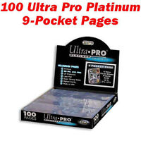 Ultra Pro Hockey Card Sheets 100 Per Box Only $17.00 Per 100