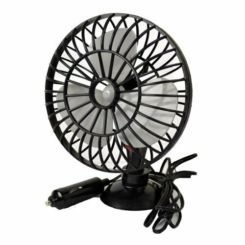 """12V 5""""  FAN WITH SUCTION CUP MOUNTING IDEAL FOR CARS VANS CARAVANS"""