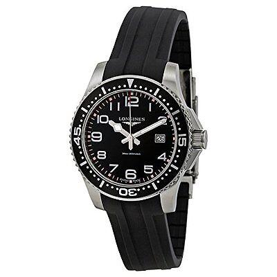 Longines HydroConquest Black Dial Black Rubber Strap Mens Watch L3.688.4.53.2