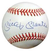 Mickey Mantle Signed Baseball PSA
