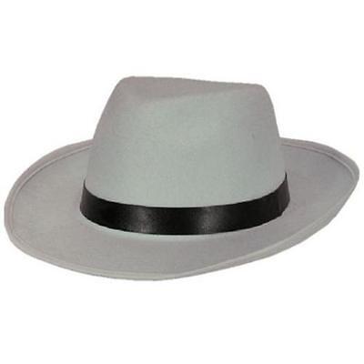 Hut Al Capone weiß Gangster Mafia Mafiahut 20er Jahre Kostüm Zubehör 4019