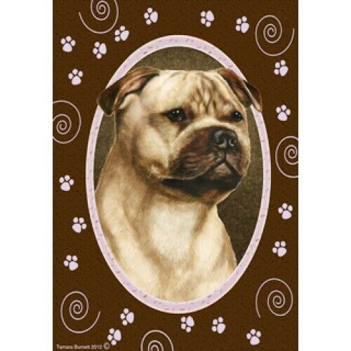 Paws House Flag - Fawn Staffordshire Bull Terrier 17245