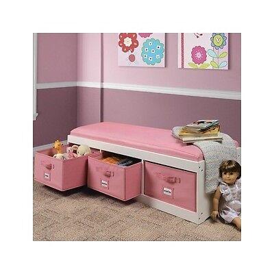 Kids Storage Bench Furniture Toy Box Bedroom Playroom Organizer Bin Seat Basket