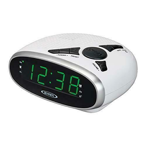 BRAND NEW Jensen JCR-175W Digital AM/FM Clock Radio with Battery Backup
