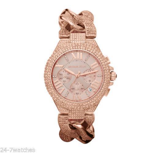 michael kors rose gold watch ebay