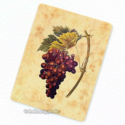 Red White Grapes Deco Magnet, Decorative Fridge Refrigerator