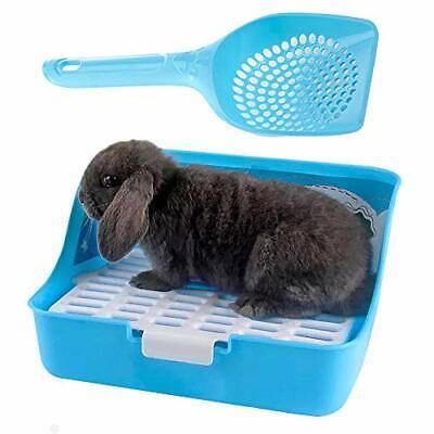 Rabbit Litter Box Potty Training Corner Pan With Grate Guinea Blue Ferrets Rats Ferret Corner Litter Pan