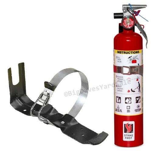 2.5 lb Fire Extinguisher ABC Dry Chemical Rechargeable DOT Vehicle Bracket UL