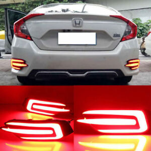 2016-2018 Honda Civic 10th gen sedan rear bumper LED lights
