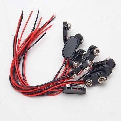 10x Conectores Pila Bateria 9 Voltios Soporte Cable DC 9V Battery Clip Snap  segunda mano  España