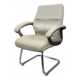 Eliza Tinsley Furniture Greenwhich Medium Back Cantilever Visitor Chair - Cream