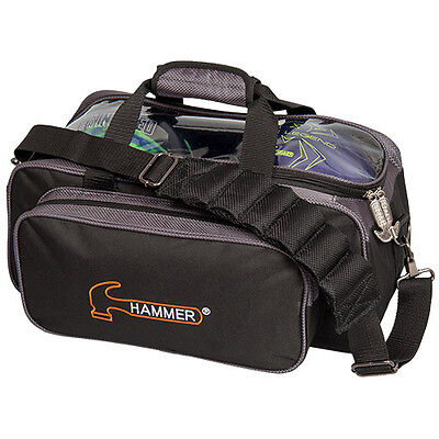 Hammer Black Black/Carbon 2 Ball Tote Bowling Bag FAST SHIPPING