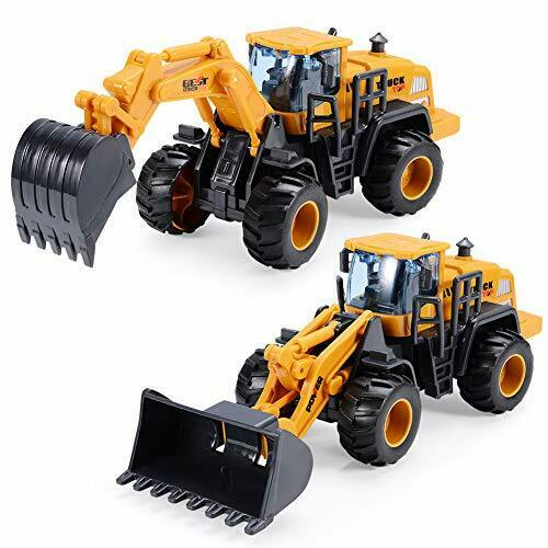 Construction Toys For 3Year Old Boys 2Pack with Excavator Toy Bulldozer For Kids