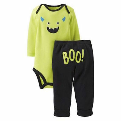Carter's Frankenstein Monster 2 piece Outfit Set Embroidered Halloween - Frankenstein Outfits