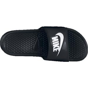pretty nice 5baad 34c44 Mens 9 Nike Benassi JDI Slides Sandals Slip Ons Black White 343880 Revise