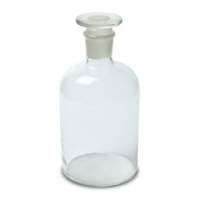 500ml Reagent Bottle Narrow Mouth With Stopper Clear Size 33 Case 48